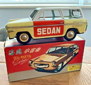"CHINA MF 139, TIN TOY CAR, FRICTION ""SEA-MARTIN"" SEDAN, 18,5cm"