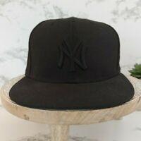 New York Yankees MLB Baseball Cap 59FIFTY Flatbill Wool New Era Fitted Hat 6 7/8