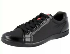 Prada Brushed Spazzolato Leather Black Trainers/Sneakers (4E2439) BNIB - UK10.5