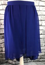BNWT Miss Selfridge Purple Dipped Hem Chiffon Floaty Skirt Size 14 RRP £37