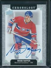 2018-19 UD Chronology MARK NAPIER AUTO Franchise History FH-MO-MN Canadiens