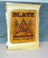 "VINTAGE BLATZ BEER LIGHTED BAR BACK SIGN ""AMERICA'S GREAT LIGHT BEER"""