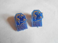 2 Vintage 1992 Volvo World's Cup Delmar Usa Horse Racing Jumping Pins Pinbacks