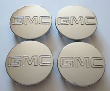 "4X Chrome GMC HUB CENTER CAPS Yukon Denali Sierra 3.25"" 18 20 22 Wheel 9595759"