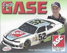 "2015 JOEY GASE ""AGRI SUPPLY CAMARO"" #52 NASCAR XFINITY SERIES POSTCARD"