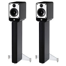 Q Acoustics Concept 20 Bookshelf Speaker Pair with Stands (Gloss Black)