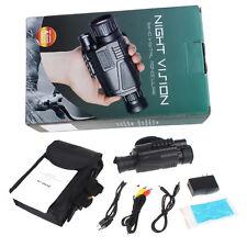 5x40 Digital Infrared Night Vision Scope Monocular Camera Zoom Video Reorder 5MP