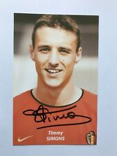 Autogramm TIMMY SIMONS-Nationalteam BELGIEN-Ex-PSV/1.FC Nürnberg/Brugge-AK