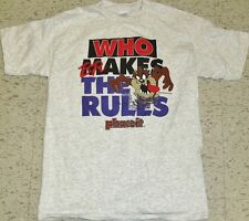"""TAZ Looney Tunes shirt Vintage 90s XL mint NEW deadstock nwot """"Brakes the Rules"""""""