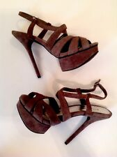 BEBE Leather Suede Gray Heels Stilettos Size 8