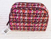 Vera Bradley Large Zip Cosmetic Bag Houndstooth Tweed Travel NWT MSRP $34