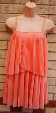 TOPSHOP PEACHY PINK FLARE FRILLY RUFFLE STRAPPY PROM PARTY TUNIC CAMI DRESS 10 S