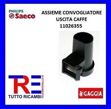 ASSIEME CONVOGLIATORE USCITA CAFFE NERA MACCHINA DEL CAFFE' SAECO 11026355