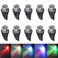 10PCS T10 W5W 194 168 501 LED Multi-color Red Green Blue flash CAR LIGHT BULBS