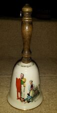"Gorham Norman Rockwell Bell ""1980 Chilly Reception"" collectors"