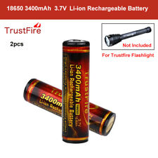 2pcs Trustfire 18650 3400mAh PCB Protection Rechargeable Battery For Flashlight