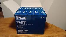 10 New Genuine Epson ERC-32 B Ribbons Black   10PCS  PN# C43S015371