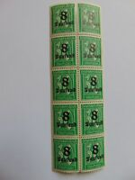 Bogenteil Deutsches Reich 8 Tsd. auf 30 Pfennig, 1923, Mi 278 X, PF 278 IV?