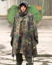 Poncho Militare FLECKTARN Tedesco Antipioggia Antistrappo 3 IN 1