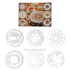 6 Stück Kuchen Schablone DIY Rund Torten Deko Marzipan