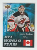 (72467) 2009-10 UPPER DECK ALL WORLD TEAM MARTIN BRODEUR #AW2