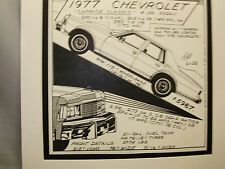 1977 Chevrolet Caprice     Auto Pen Ink Hand Drawn  Poster Automotive Museum 7