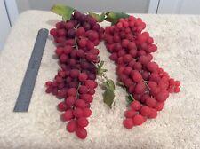 "Grapes. Burgundy. 15"" Long. Two Bundles. Excellent Condition."