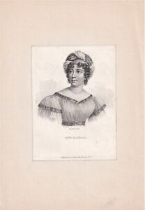 ANNA  LOUISE STAEL-HOLSTEIN Author & Political theorist engraving by Fauchery