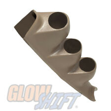 GlowShift Tan Triple Gauge 52mm Pillar Pod for 00-06 Chevrolet Silverado Duramax
