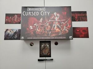 Warhammer Quest Cursed City Board Game NIB RARE DISCONTINUED