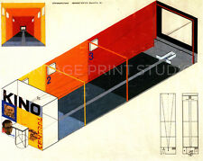 Bauhaus Design for Cinema 1925 Vintage Theater Design Giclee Canvas Print 28x22