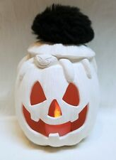Riverview 442*Tea Lite*Halloween Spider in Pumpkin-Ready to Paint Ceramic Bisque