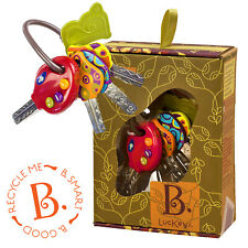 NEW B Toys LUCKEYS BABY TODDLER Electronic TOY Car KEYS Textures Colours Sounds