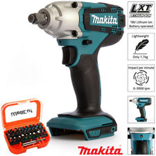 """Makita DTW190Z 18V 1/2"""" Square Impact Wrench Body With 31pcs Screwdriver Bit Set"""