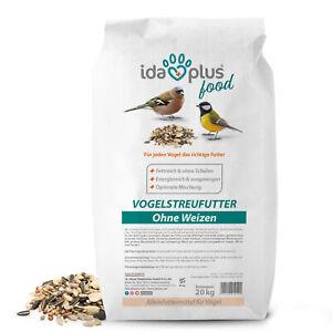 Ida Plus Vogelstreufutter ohne Weizen - Vogelfutter für Wildvögel & Vögel 20 Kg