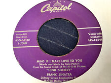 Frank Sinatra 45 Mind If I Make Love to You/Who Wants to Be a Millionaire