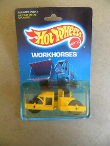 Mattel 1988 HOT WHEELS WorkHorses  ROAD ROLLER MIP mf