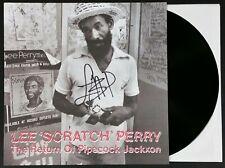 LEE SCRATCH PERRY SIGNED RETURN OF PIPECOCK JACKXON LP VINYL RECORD ALBUM W/COA