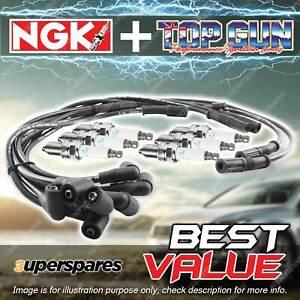 NGK Ignition Spark Plug Leads Wires Kit for Mitsubishi Pajero NF NG NH NJ K