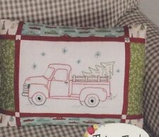 PATTERN - Vintage Holiday - fun Christmas stitchery & pieced pillow PATTERN