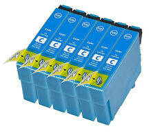 6 Compatible E1282 Cyan Ink jet Printer Cartridge, For T1282