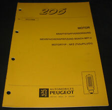 Werkstatthandbuch Peugeot 206 Motor Mehrfacheinspritzung Bosch MP7.2 TU5JP L3 D3