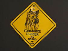 Yorkshire Terrier On Board Dog Breed Yellow Car Swing Sign Gift