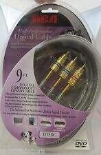 RCA 9 Ft. Component Video Cable  (DT9DC) Gold Plated Connectors