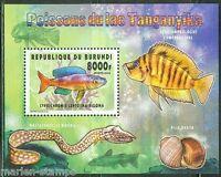 BURUNDI 2014 FISH OF LAKE TANGANYIKA I  SOUVENIR SHEET   MINT NH