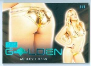 "ASHLEY HOBBS ""ICE BLUE GOLDEN CARD #1/1"" BENCHWARMER GOLD 2021"