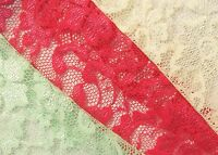 Beautiful Lace Polyester Stretch fabric - 58 inches wide, Sold by the metre