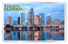 TAMPA FLORIDA USA FRIDGE MAGNET SOUVENIR IMAN NEVERA