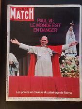 paris match n°946 le pape paul VI 6 fatima   1967