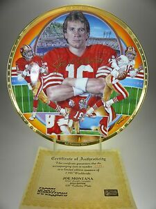 Sports Impressions Joe Montana Collectors Plate 1st Plate in Series (#1225)